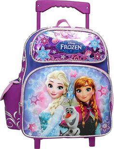 Backpack For Teens, Backpack Online, Small Backpack, Girls Rolling Backpack, Girls Luggage, Frozen Merchandise, Mini Rolls, Disney Princess Frozen, Carter Kids