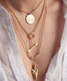 Multi layer dainty necklace from Yiwuproducts.com