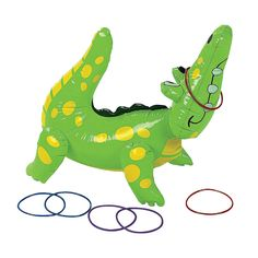 Inflatable Alligator Ring Toss Game - OrientalTrading.com Alligator Party, Alligator Birthday Parties, Safari Birthday Party, Pirate Birthday, Animal Birthday, Birthday Ideas, Dinosaur Birthday, Kids Birthday Party Games, Birthday Boys