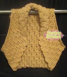 Chaleco en crochet, va con todo, me gusta.