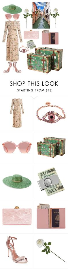 """""""Euro Trip"""" by leanne-odonnell ❤ liked on Polyvore featuring RED Valentino, Gucci, Vintiquewise, Off-White, Edie Parker, Royce Leather and Steve Madden"""