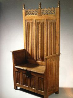 Gothic High Back Bench/Chair