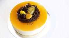 Påskekake: Gul ostekake med mandelbunn - Godt.no - Finn noe godt å spise