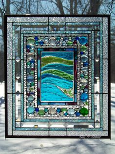 Glass is amazing! It's a suspended liquid that moves and flows. It changes wit… – Stained Glass and Glass Art Techniques Faux Stained Glass, Stained Glass Designs, Stained Glass Panels, Stained Glass Projects, Stained Glass Patterns, Leaded Glass, Making Stained Glass, Sea Glass Art, Mosaic Glass