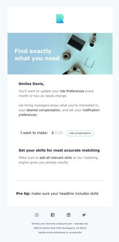 The Best Email Designs in the Universe (that came into my inbox) Html Email Design, Best Email, Email Templates, Job Offer, Edm, Universe, Cosmos, Space, The Universe