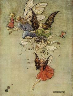 "Florence Mary Anderson - ""Sunset Fairies"""