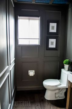 REVEAL: Dated Powder Room gets a Moody Makeover | Pink Little Notebook