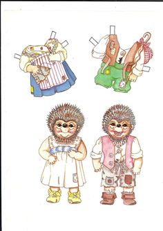 HEDGEHOG FAMILY by Bette Wells 1 of 2