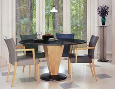 5 Piece Dining Set Round Table Granite Dining Table Restaurant Dining Room Design 450x350