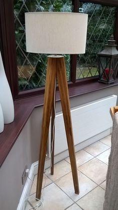 Tall Artistic Tripod Floor Standing Lamp