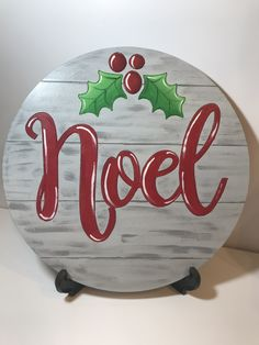 Excited to share the latest addition to my shop: Noel door hanger. Christmas Rock, Merry Little Christmas, Christmas Signs, Christmas Crafts, Christmas Decorations, Christmas Ornaments, Christmas Wreaths, Wooden Ornaments, Wood Cutouts