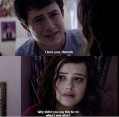 13 reasons why Clay and Hannah on We Heart It 13 Reasons Why Quotes, 13 Reasons Why Netflix, Thirteen Reasons Why, Movies And Series, Movies And Tv Shows, Tv Series, Netflix Series, Tv Quotes, Movie Quotes