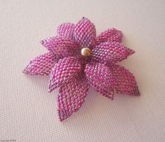 Jewelry beading tutorial - delica and seed beaded Double Flower - pdf file instructions via Etsy
