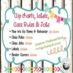 Decorate your classroom this year with shades of burlap, chalkboard, & vintage wood.  All the work has been done for you! If youre a brand NEW teacher or Veteran, your job has been made easier! This packet has just what you need to get your room ready and organized for your new school year!