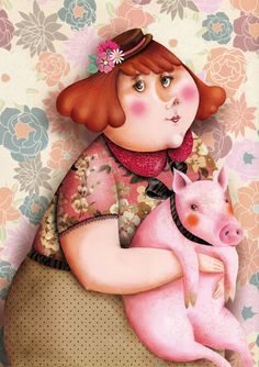 Marie Desbons  --- this little piggy goes to market !!!