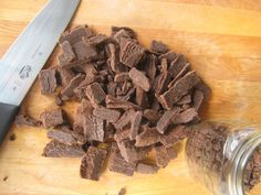 Homemade Chocolate Chips recipe with cocoa butter...use stevia instead of honey.
