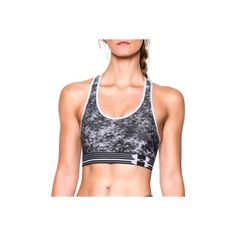 Under Armour Womens Static Print Mid Sports Bra ($30) ❤ liked on Polyvore featuring activewear, sports bras, athletic sportswear, under armour, under armour sportswear and under armour sports bra