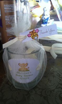 Lion King baby shower candle