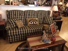 Country Sofas, Primitives, Couch, Furniture, Home Decor, Settee, Decoration Home, Sofa, Room Decor