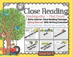 Close Reading for Kindergarten & First Grade: Spring Quarter 4 LOTS of writing extensions and fun included!