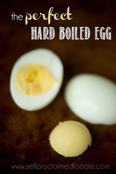 This method for the perfect hard boiled egg will yield an easy to peel egg with whites and yolks that are fully cooked and a creamy yellow yolk.