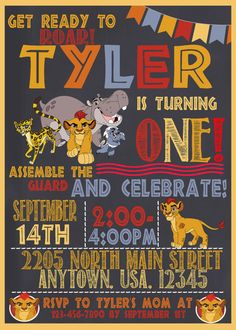 Lion Guard Birthday Invitation digital by ccharactercreationss