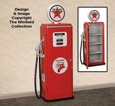 Other Supplies - Gas Pump Decal Kit-Texaco Winfield Collection, Patterned Furniture, Old Gas Pumps, Car Bedroom, Paint Supplies, Texaco, Wood Plans, Gas Station, Wooden Diy