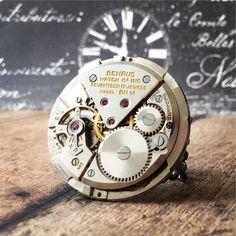 Bulova Watch Steampunk anillo reloj parte anillo anillo de