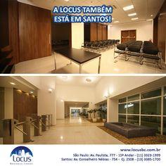 A LOCUS também está em Santos! Veja fotos das salas em: http://www.locusbc.com.br/salas/ #locus #santos #praia #qualidadedevida #trabalharemsantos #alugueldesalas