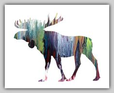 Moose Artwork Moose Paintings Moose Wall Art by MordaxFurittus