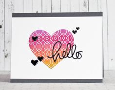 Love this card by Stephanie Klauck using some Simon Says stamp Exclusive dies. August 2014