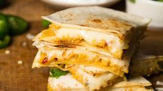 Spice up your next party with our Cheese N Rice Quesadillas appetizer recipe that combines green chiles and Mexican rice to create cheesy out of this world quesadillas.