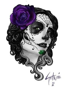 Candy Skull tattoo... want this!