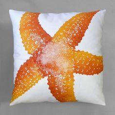 Starfish Pillow - Clementine - Throw Pillows Handmade, Pillow, Starfish - Seaside Decor Boutique
