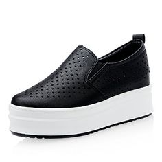 Hollow star shoes in summerPlatform shoesBreathable high womens shoeThickensoled shoesLoafer shoes Korean leisure shoesB Foot length228CM9Inch * ** AMAZON BEST BUY **