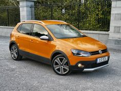 With a sporty exterior, the Volkswagen Cross Polo has the look of a mini SUV Vw Polo Cross, Driving Test, Volkswagen, Audi, Automobile, Sporty, Exterior, Car, Motor Car