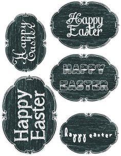 Easter Chalkboard Printables