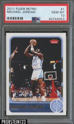 2011 Fleer Michael Jordan Basketball Card for sale online Michael Jordan Basketball Cards, Michael Jordan Unc, Jeffrey Jordan, Michael Jordan Chicago Bulls, Jordan 7, Carolina Blue, North Carolina, Jordan Bulls, Retro 1