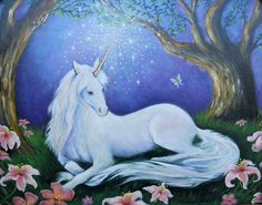 Children's Unicorn Wall Art, Incantation, Original Painting by Theresa Stites, Limited Edition Print