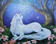 Children's Unicorn Wall Art Incantation by PaintedPresence on Etsy