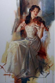 Richard Johnson Art--La Seranata Richard Johnson Original Painting available from J Watson Fine Art 661 your source for Richard Johnson art. Tumblr Art, Classical Art, Art Graphique, Renaissance Art, Anime Comics, Beautiful Paintings, Aesthetic Art, Female Art, Painting & Drawing