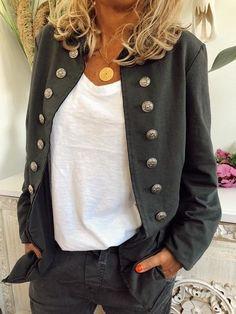 Blazers Informal Poliéster Abrigos en forma de H Abrigos Negro Botones Corto Manga larga S M L XL XXL Abrigos Blazers, Sweat Shirt, Top Gris, Plus Size Outerwear, Casual Tops For Women, Casual Sweaters, Sweater Coats, Color Negra, Jackets