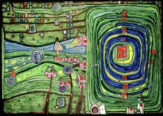 "Friedrich Hundertwasser's amazing ""Grass For Those Who Cry"""