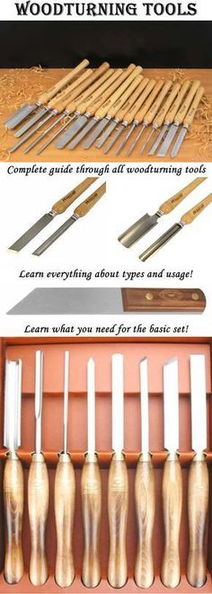 tools Complete guide through woodturning tools! learn everything about types of woodturning tools and their usage!Complete guide through woodturning tools! learn everything about types of woodturning tools and their usage! Woodturning Tools, Lathe Tools, Woodworking Lathe, Learn Woodworking, Wood Tools, Popular Woodworking, Woodworking Projects, Woodworking Basics, Woodworking Techniques