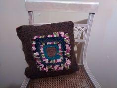 Pillow #Crochet wool - #handmade (Available) L02
