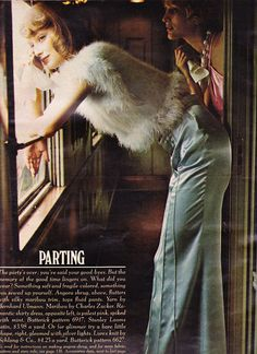 Maribou by Charles Zucker, Butterick Patterns Seventeen - December 1972 Photographed by Barbara Bordnick 60s And 70s Fashion, Vintage Fashion, Trendy Fashion, High Fashion, American Hustle Fashion, Vintage Vibes, Retro Vintage, Off Your Rocker, Seventeen Magazine