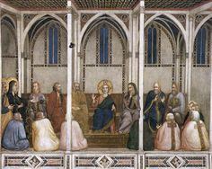 'Christus unter den Doktoren (Nordquerhaus, Unterkirche, San Francesco, Assisi)', freskos von Giotto Di Bondone (1266-1337, Italy)