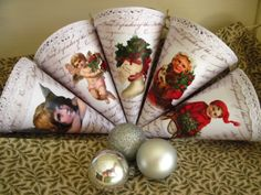 Christmas cornets Decoupage, Christmas, Navidad, Weihnachten, Yule, Christmas Movies, Xmas, Noel, Natale