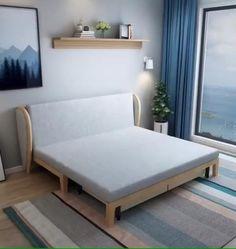 Sofa Bed Design, Living Room Sofa Design, Room Design Bedroom, Bedroom Furniture Design, Home Decor Furniture, Home Room Design, Sofa Come Bed Furniture, Folding Furniture, Bedroom Sofa