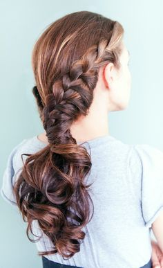 Lace braided ponytail
